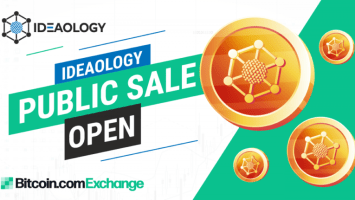 ideaology launched ieo public sale today on bitcoin com exchange 768x431 1