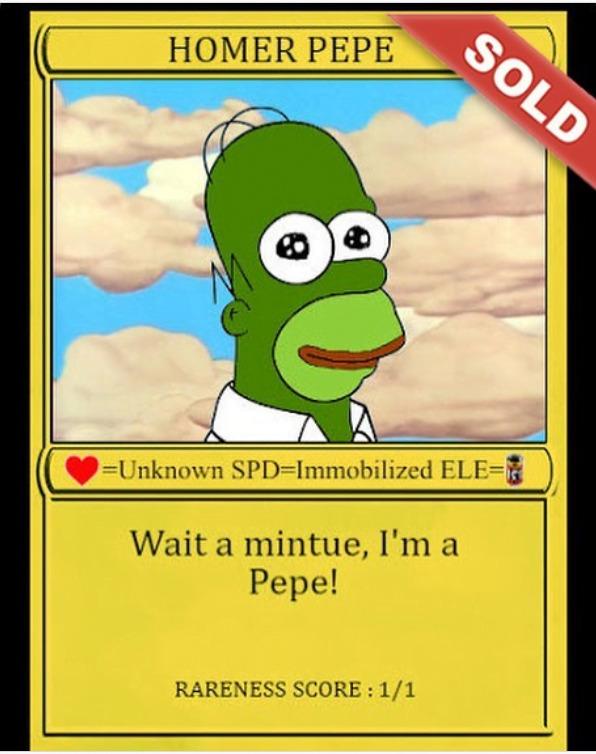 Homer Pepe NFT