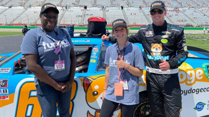 Baby Doge Sheds Over 40% This Week Despite NASCAR Debut and Animal Shelter Donation