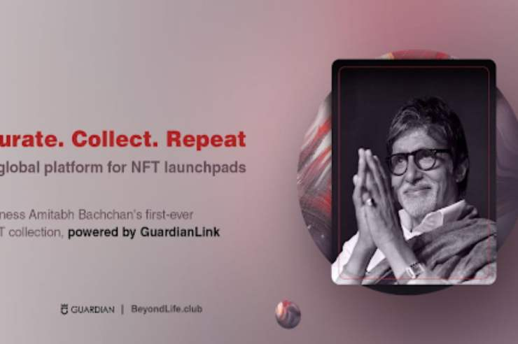 guardian link announces partnership with beyondlife club launching amitabh bachchans nft collection