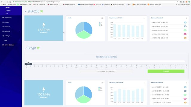 HashFlare - Cloud Mining 1