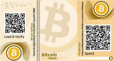 Monedero Bitcoin de papel