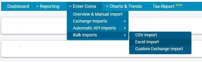 Bitcoin Trade Importer