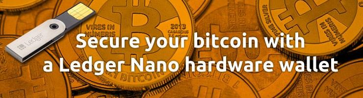 Ledger Nano hardware wallet