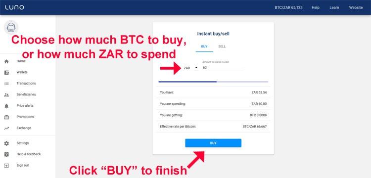 Luno instant buy