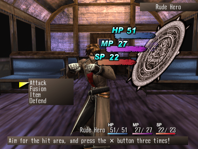 Shadow Hearts Rude combat