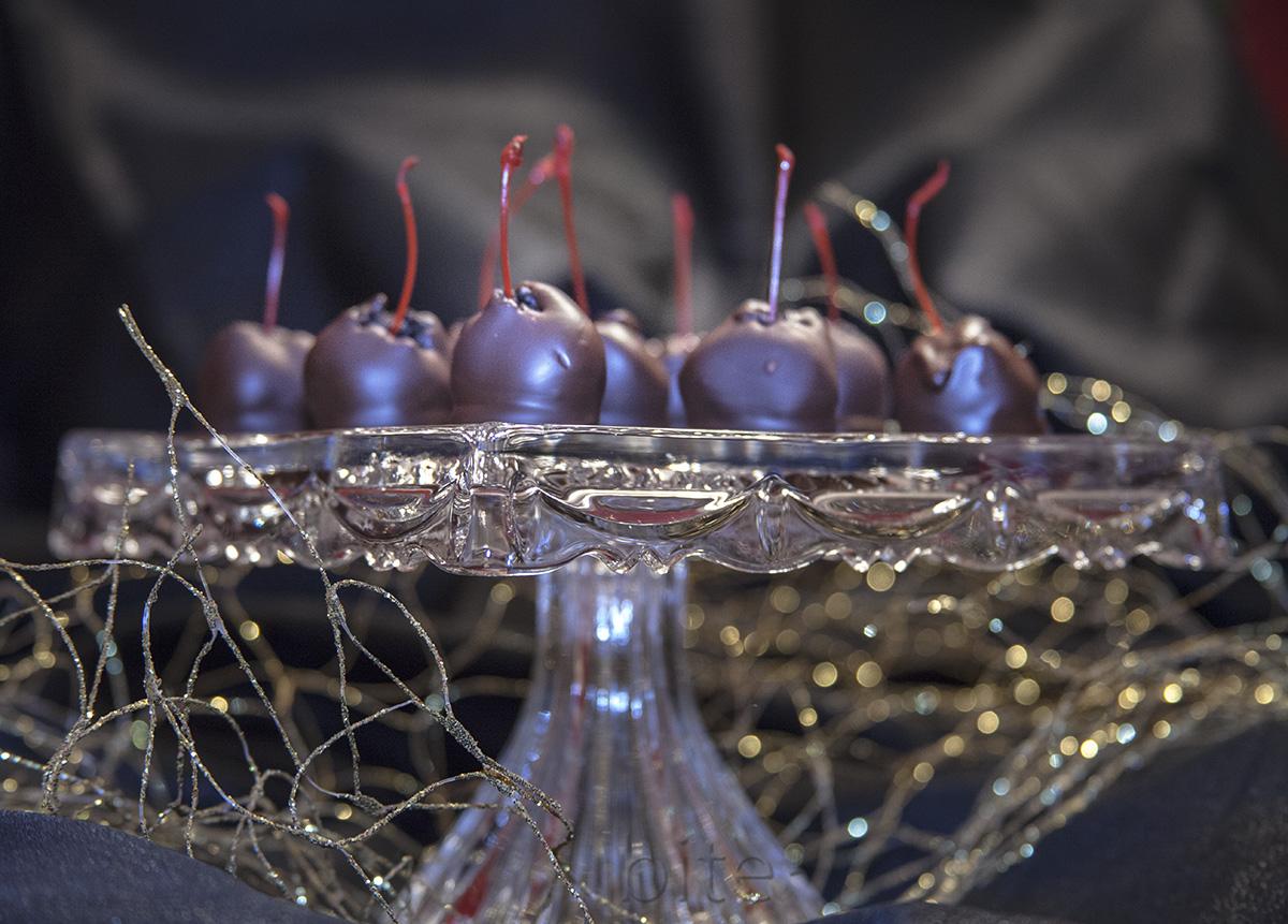 chocolate covered Oreo cookie maraschino cherry balls for Oreo junkies!