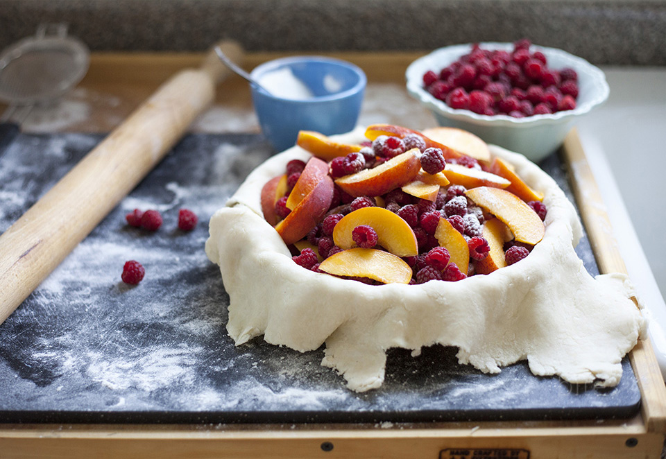 raspberry peach pie – the circle of life
