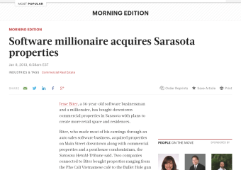 Software millionaire acquires Sarasota properties