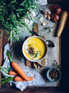 meal delivery carrot soup