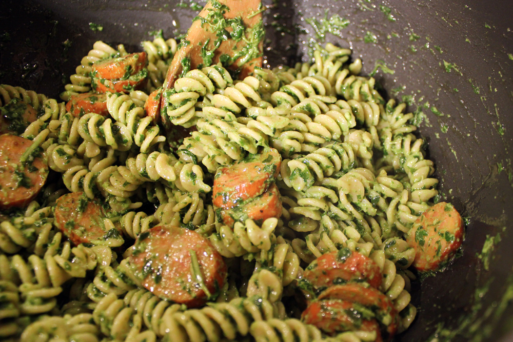 Image result for pasta with pesto sauce