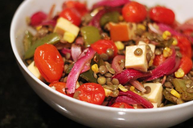 summer lentil salad 4