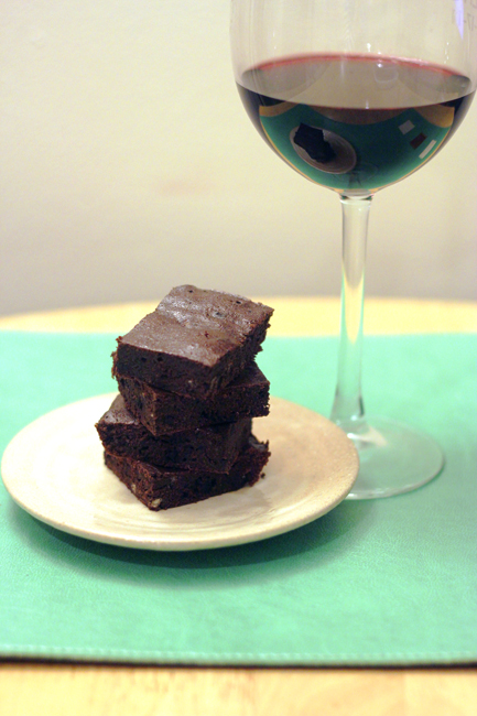 red wine brownies 7