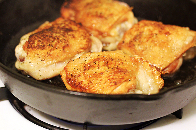 chicken brussels skillet 1