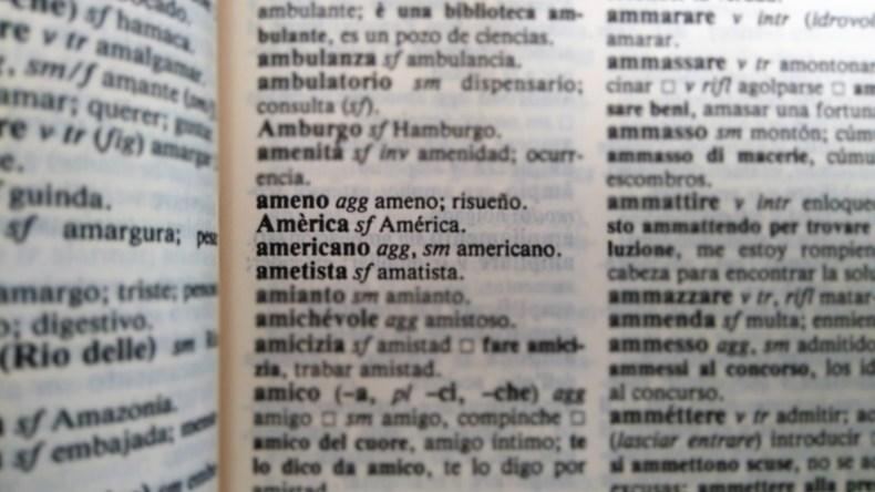 Americano dizionario