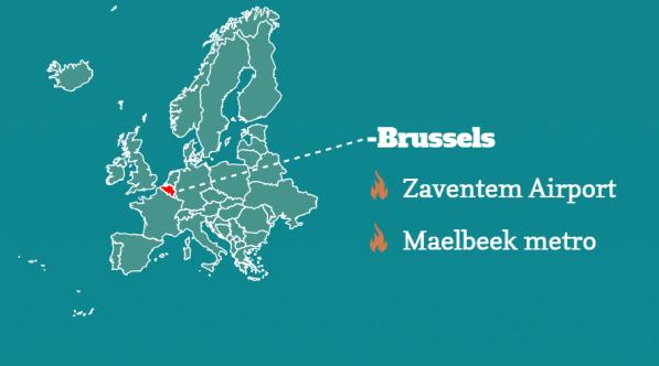 infographic Bruxelles attack