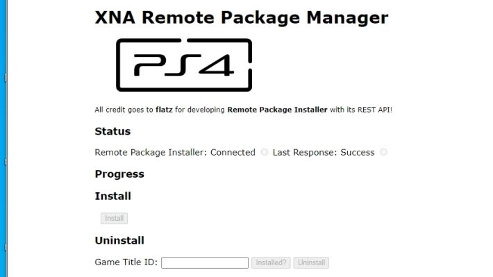 [Scena PS4] Rilasciato XNA Remote Package Manager