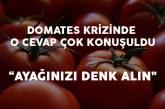 Türkiye'de Yaşanan Domates Krizine Şok Açıklama