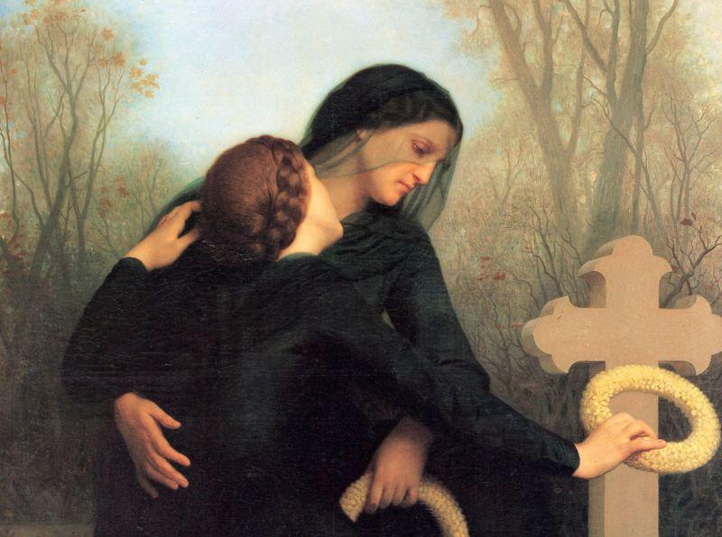"Foto: William-Adolphe Bouguereau, ""Dušni dan"", 1859./Wikimedia smrt bližnjih utjeha"
