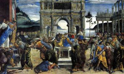 "Sandro Botticelli ""Kažnjavanje Koraha"", Foto: Wikimedia commons"