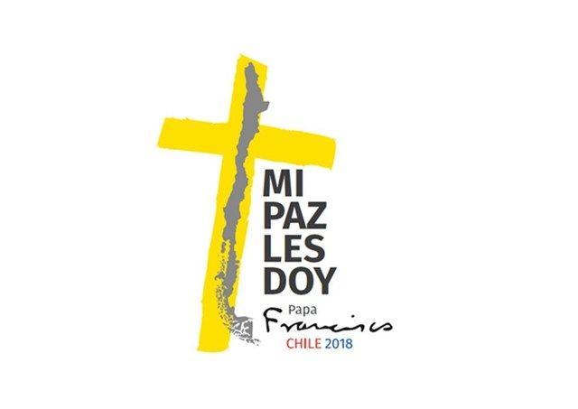 moto i logo papina putovanja u čile