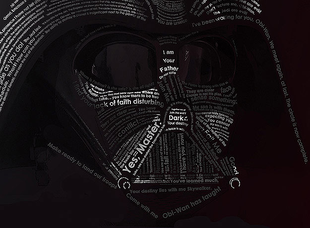 Star Wars Typography: Darth Vader Created With His Quotes ...