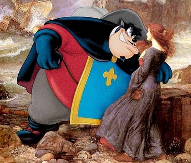 Mind Twisting Art Cartoons Mixed Into Classic Paintings