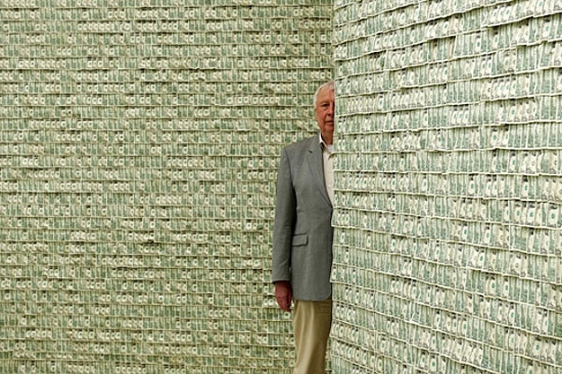 Falling Money 3d Wallpaper Commercialism Illustrated The Room Adorned With 100 000