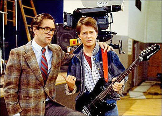 What Did Michael J. Fox and Huey Lewis Look Like  in 1985