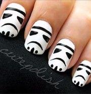 easy stormtrooper nail art tutorial