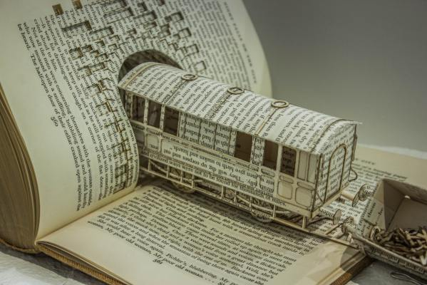 Book Sculpture Illustrates Ocd With Derailed Typography