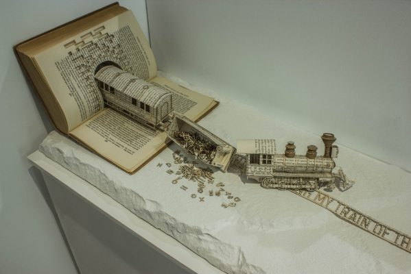 Book Sculpture Art by Thomas Wightman
