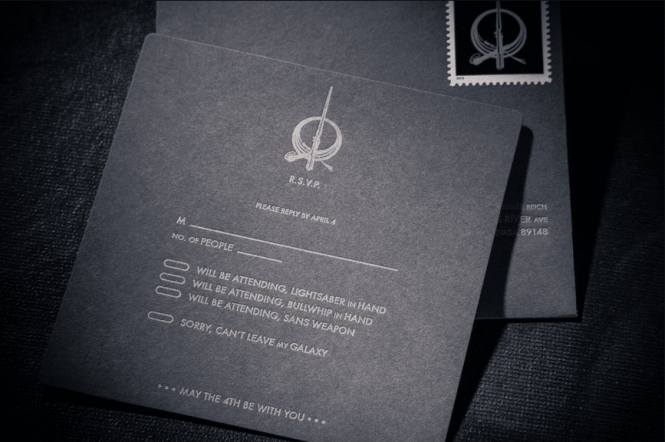 Star Wars Wedding Invitation Trumps All Other Invitations