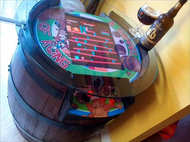 Handcrafted Donkey Kong Barrel Game Is Perfect For A Retro