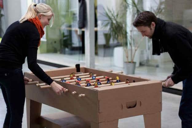 Fantastic Cardboard Foosball Table Made From All
