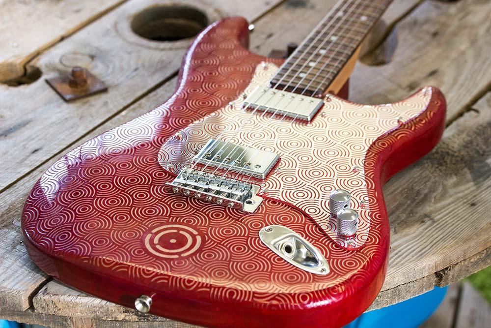 Laser Engraved Guitar