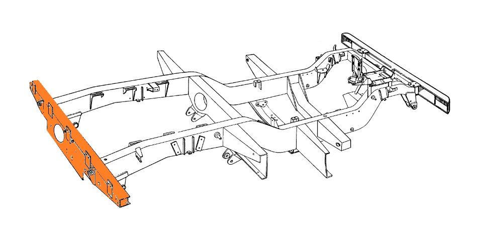 Rear Chassis Crossmember Repair Panel NRC236 LR10 for Land