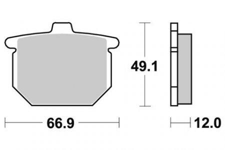 HONDA GL1000 K1, K2 Gold Wing brake pads 1975-1977 SBS 508HF