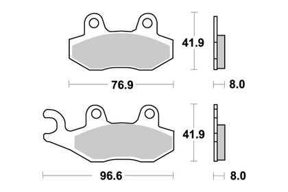 TRIUMPH 900 Tiger Right brake pads 1993-1998 SBS 611SI