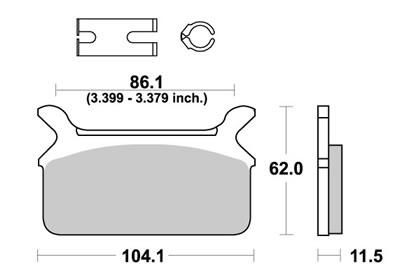 HARLEY DAVIDSON FLST1340 Heritage Softail brake pads 1988-19