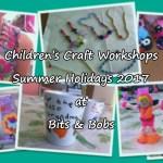 Summer Holiday Kids Crafts Workshops