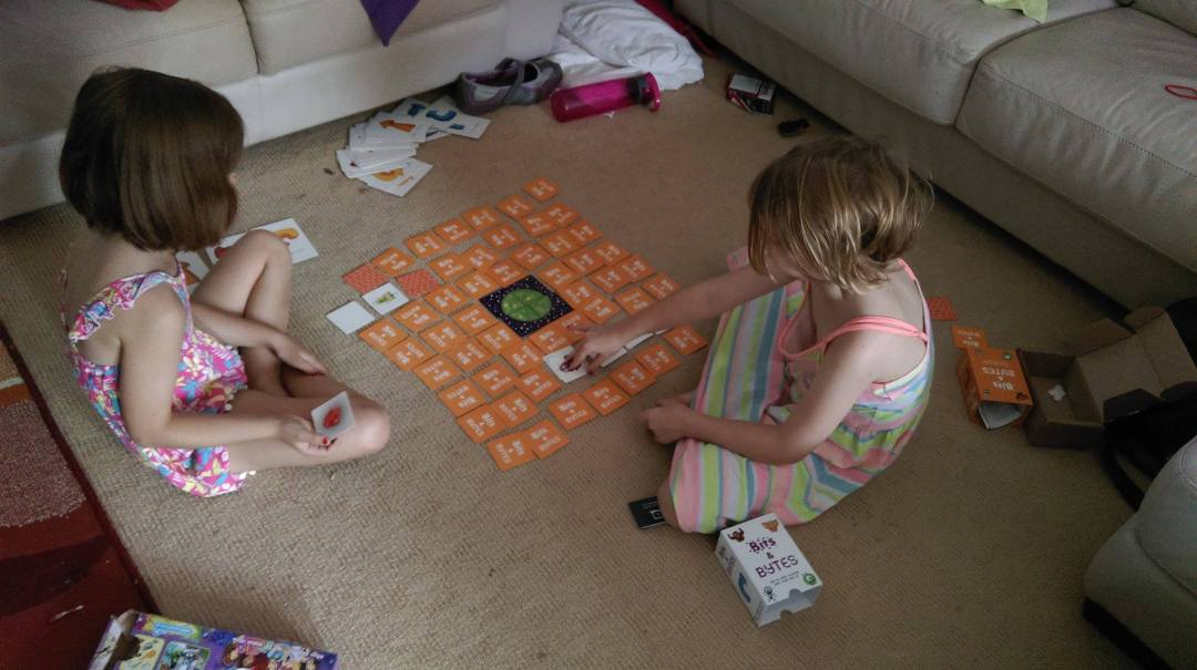 It's too hot in Australia for the children to be playing outside so they are inside playing Bits and Bytes