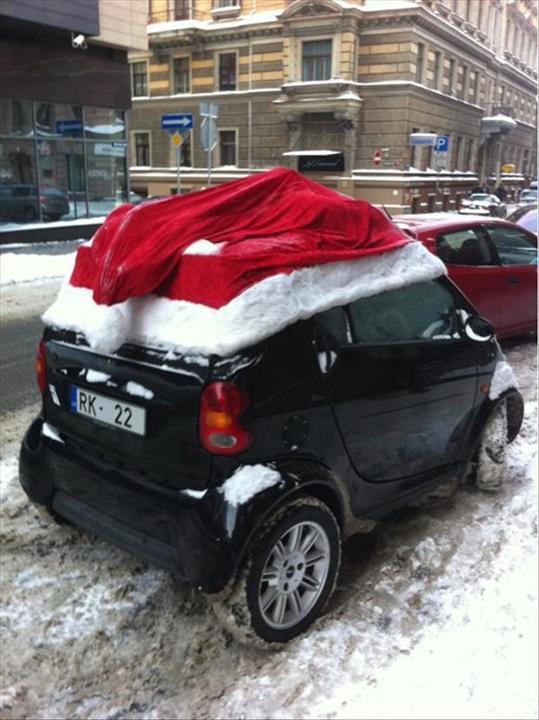Santa hat car