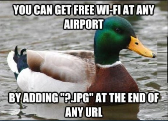 Free wifi at airport