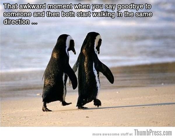 That awkward goodbye
