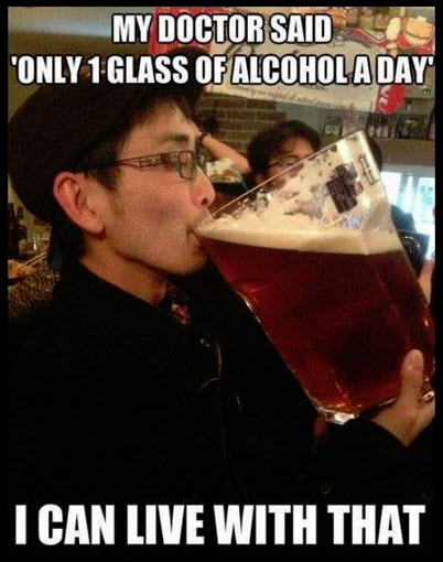 1 glass of alcohol