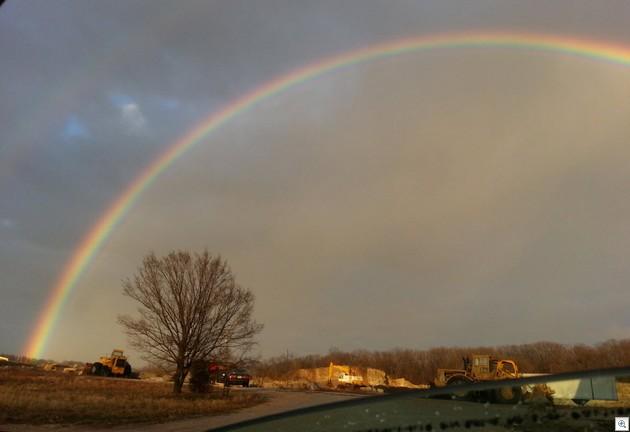 Rainbow from car