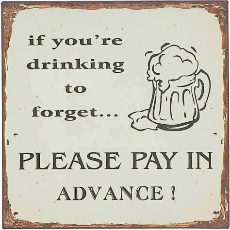 Please pay in advance