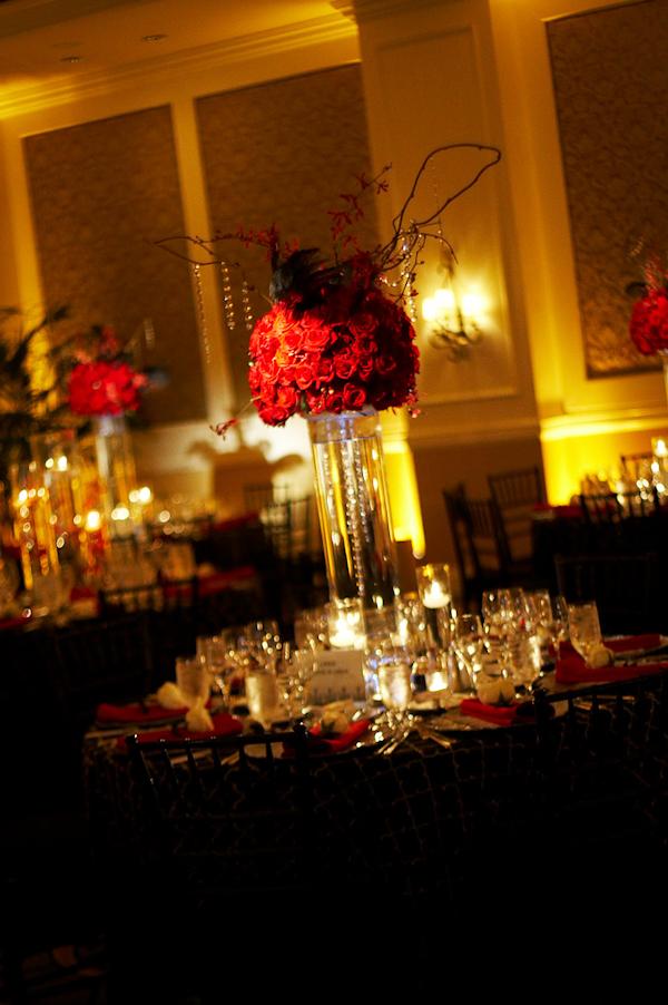 Red Floral Centerpieces  Bitsy Bride