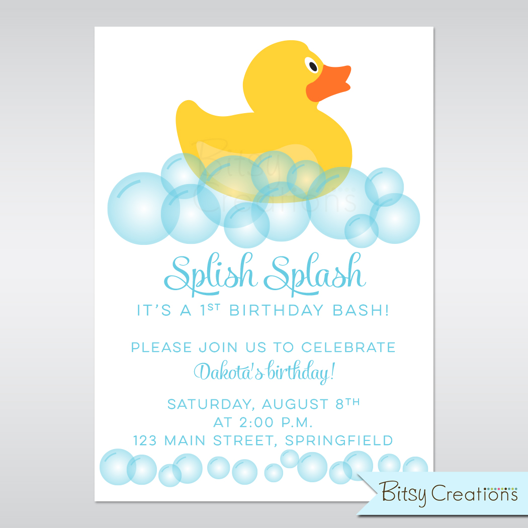 Baby Shower Invitations Ducks